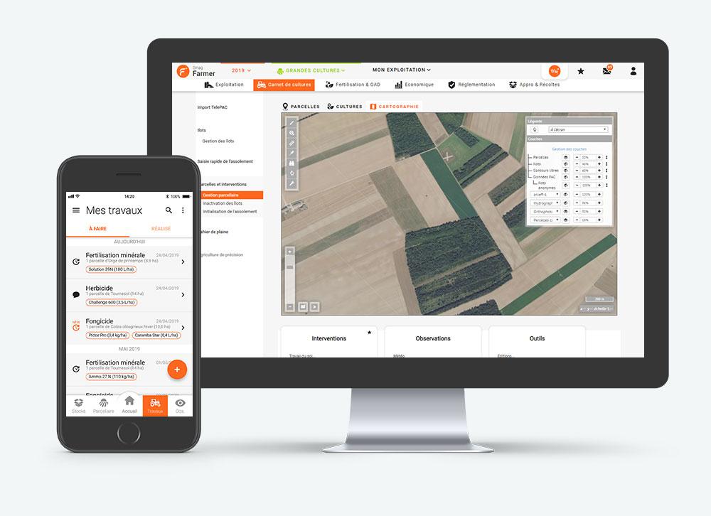 Smag Farmer - Logiciel agricole web & mobile pour les agriculteurs