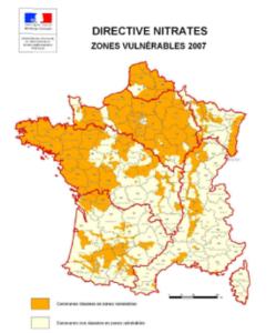 Directives Nitrates zones vulnérables 2007