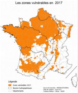 Directives Nitrates zones vulnérables 2017