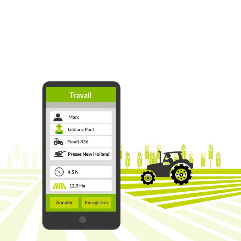Enregistrez les travaux depuis la cabine avec l'application mobile